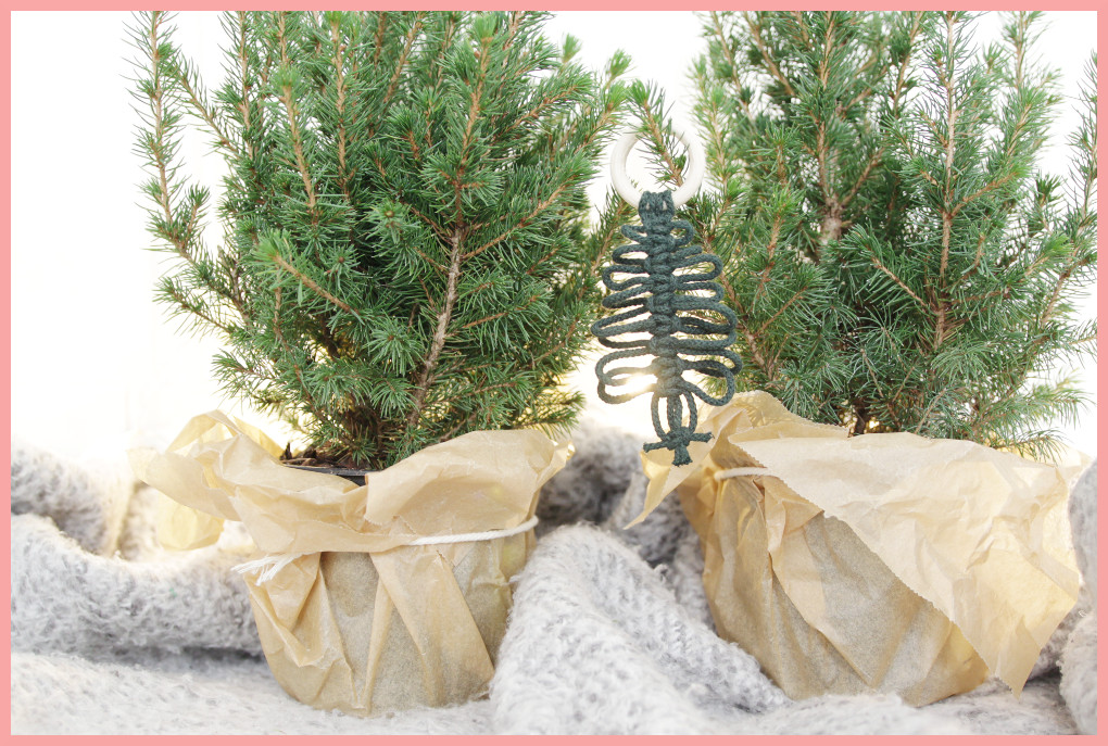 Makramee Weihnachtsanhänger basteln mit frau friemel