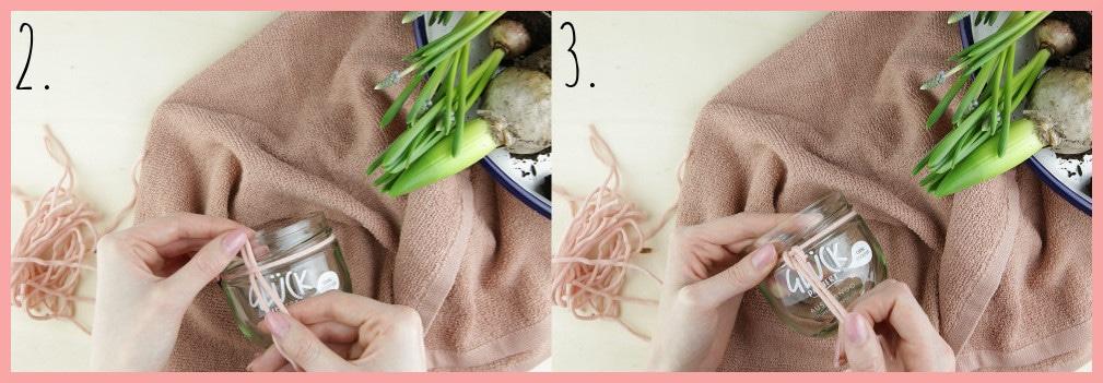 Blumentöpfe gestalten mit Makramee frau friemel - Schritt 2-3