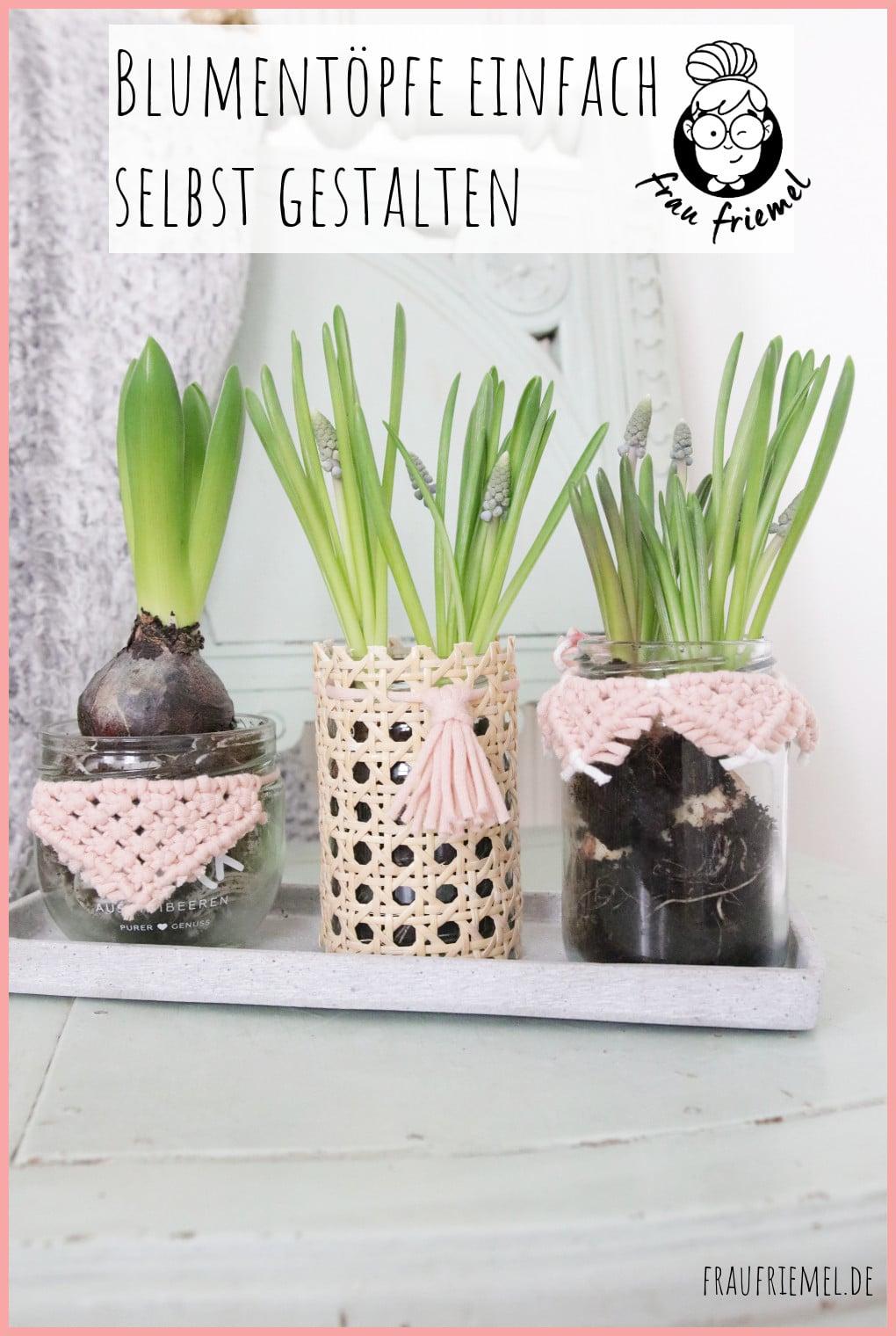 Blumentöpfe gestalten mit Makramee und Wiener Geflecht auf Pinterest merken