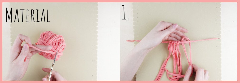Brosche selber machen - kleine Geschenkidee für den Valentinstag - Material und Schritt 1