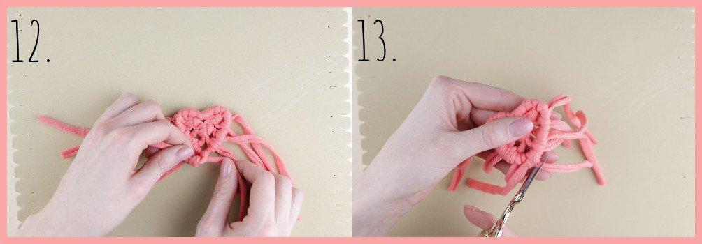 Brosche selber machen - kleine Geschenkidee für den Valentinstag - Schritt 12-13
