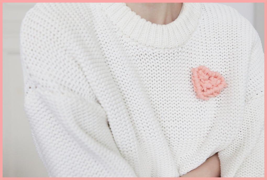 Brosche selber machen - kleine Geschenkidee für den Valentinstag - Titel 4