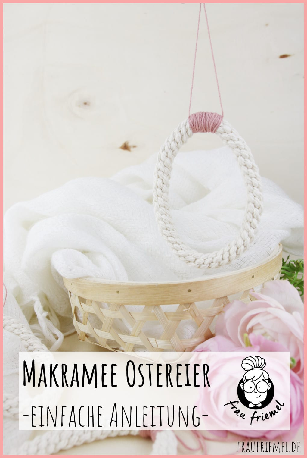 Ostereier basteln mit Makramee auf Pinterest merken