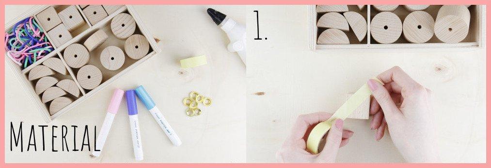 Kerzenständer aus Holz selber machen mit frau friemel - Material und Schritt 1
