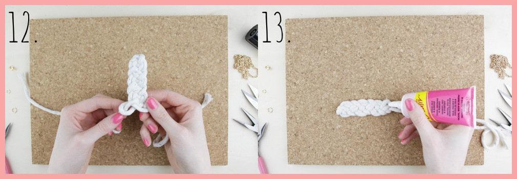 Knoten Kette selber machen mit keltischen Knoten - Schritt 12-13