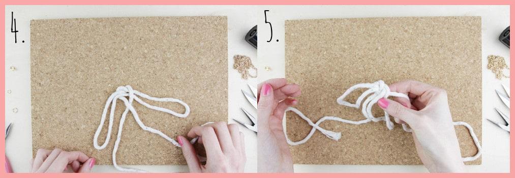 Knoten Kette selber machen mit keltischen Knoten - Schritt 4-5