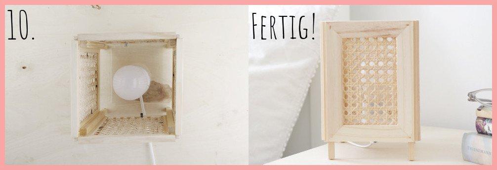 IKEA Hack Lampe selber machen mit Wiener Geflecht - Schritt 10