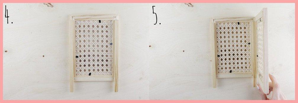 IKEA Hack Lampe selber machen mit Wiener Geflecht - Schritt 4-5
