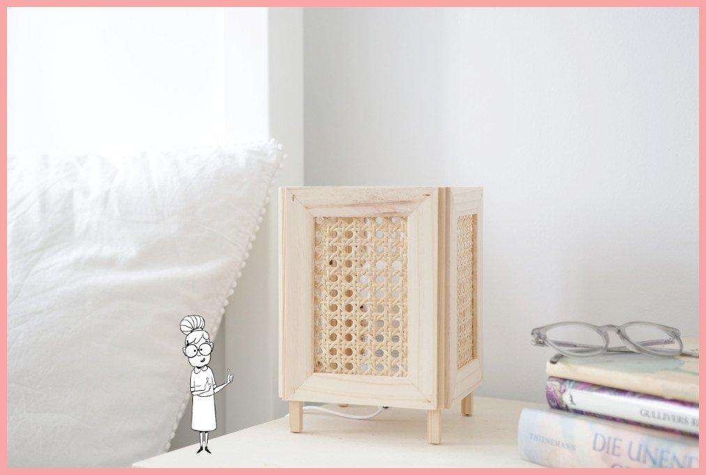 IKEA Hack Lampe selber machen mit Wiener Geflecht