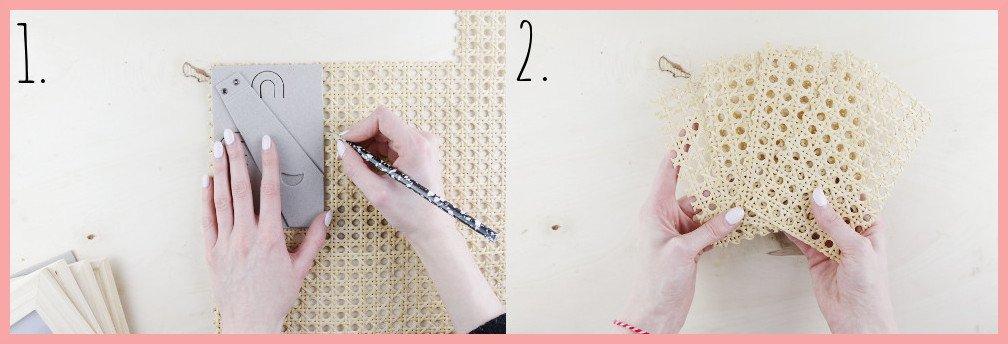 IKEA Hack Lampe selber machen mit Wiener Geflecht - Vorbereitung Schritt 1-2