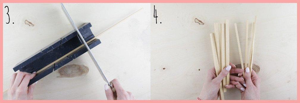 IKEA Hack Lampe selber machen mit Wiener Geflecht - Vorbereitung Schritt 3-4