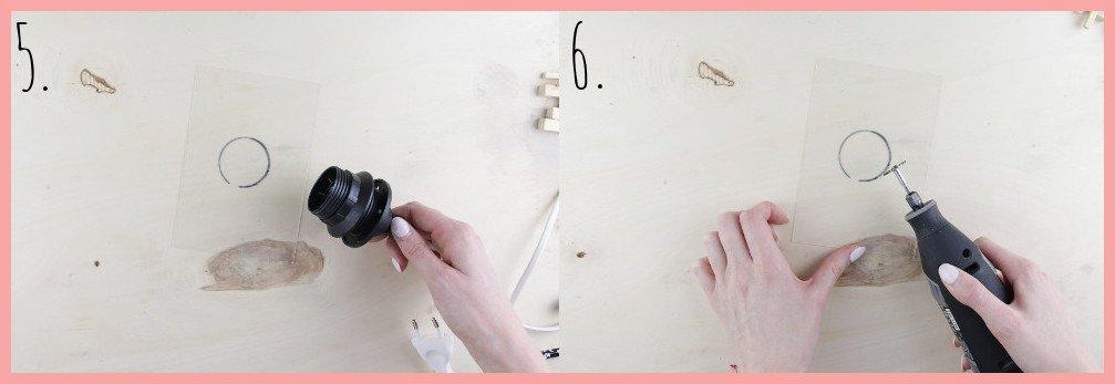 IKEA Hack Lampe selber machen mit Wiener Geflecht - Vorbereitung Schritt 5-6