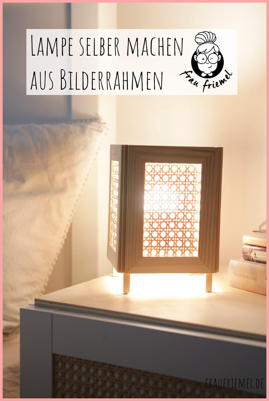 IKEA Hack Lampe selber machen mit Wiener Geflecht auf Pinterest merken