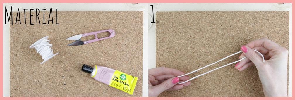 Ohrringe selber machen mit frau friemel - Material und Schritt 1