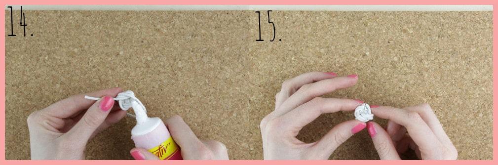Ohrringe selber machen mit frau friemel - Schritt 14-15