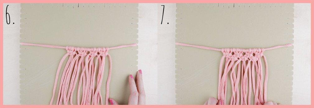 Makramee Kette selber machen - Schritt 6-7
