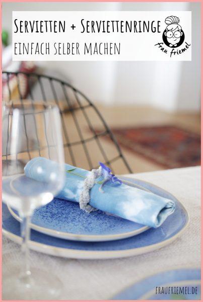 SServiettenringe basteln und Stoffservietten färben mit Shibori auf Pinterest merken