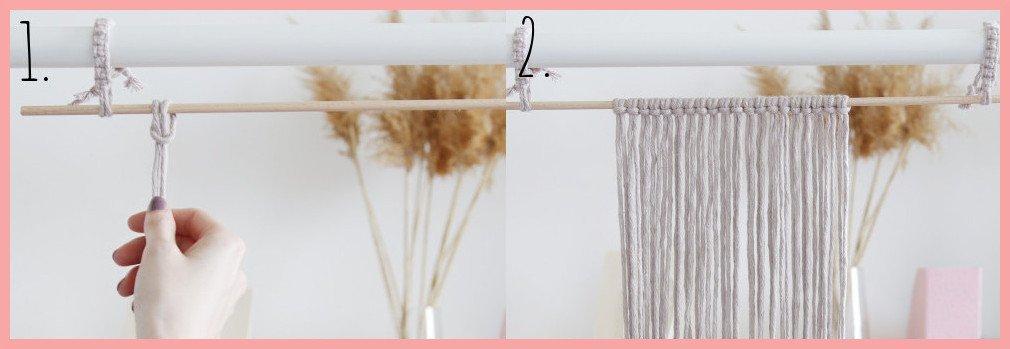 DIY Makramee-Wandbehang für Anfänger - Schritt 1- 2