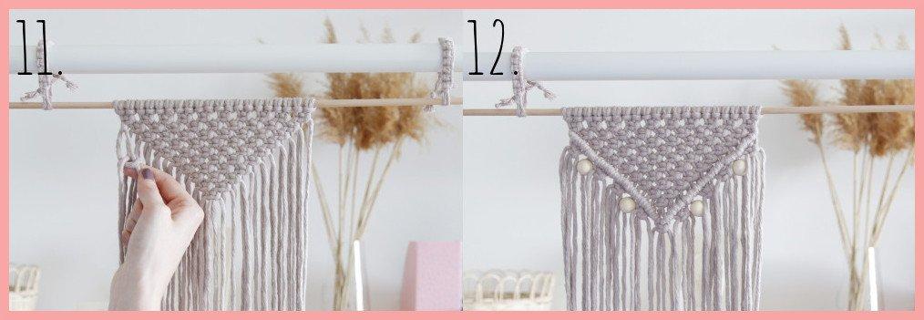 DIY Makramee-Wandbehang für Anfänger - Schritt 11-12