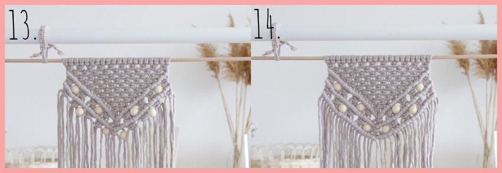 DIY Makramee-Wandbehang für Anfänger - Schritt 13-14