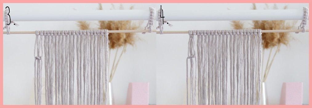 DIY Makramee-Wandbehang für Anfänger - Schritt 3-4