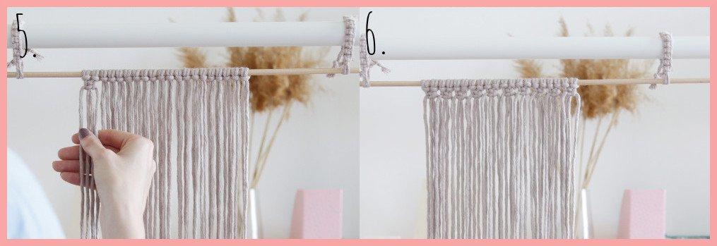 DIY Makramee-Wandbehang für Anfänger - Schritt 5-6