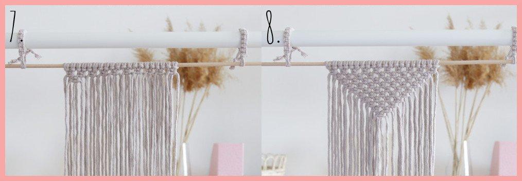 DIY Makramee-Wandbehang für Anfänger - Schritt 7-8