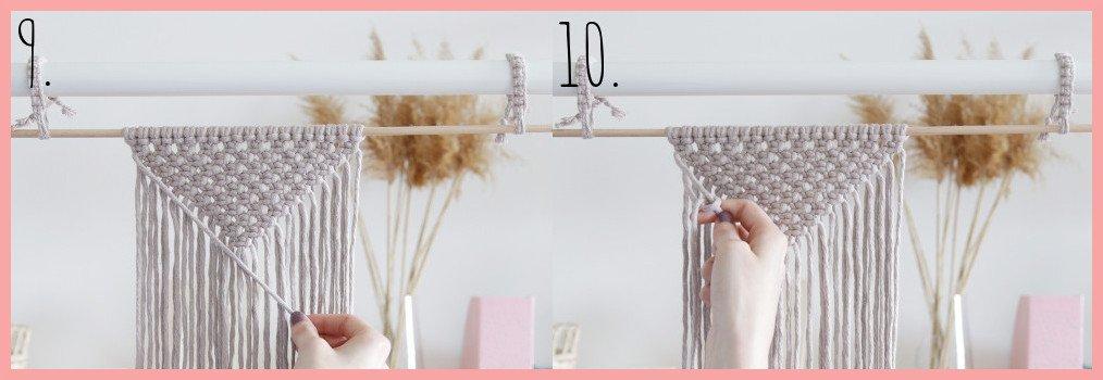 DIY Makramee-Wandbehang für Anfänger - Schritt 9-10