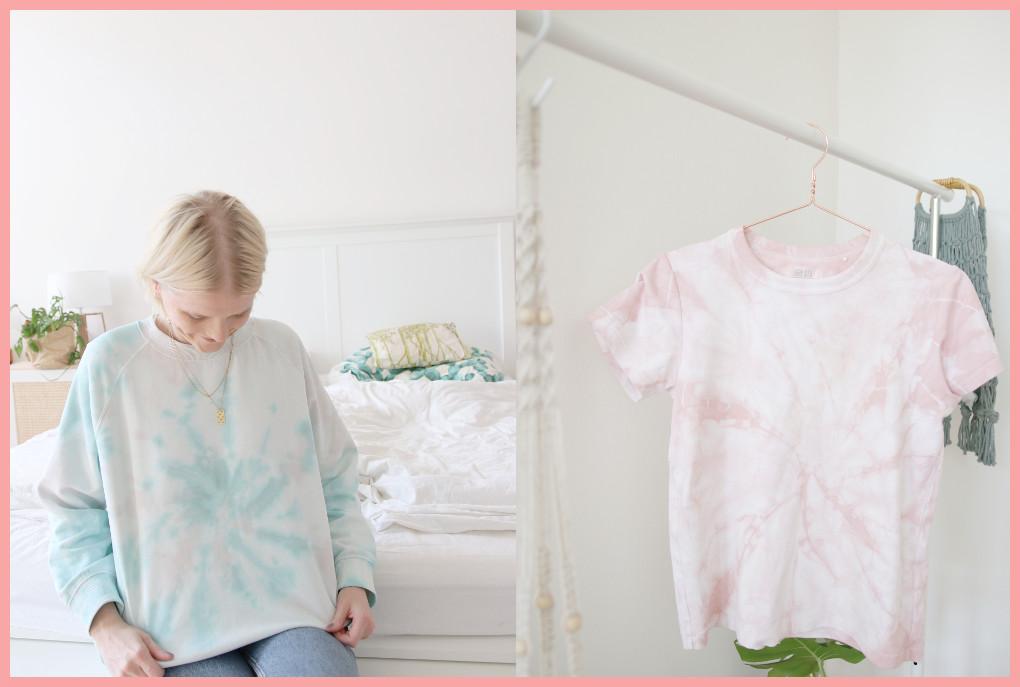 Batik färben mit frau friemel - Ergebnis Spirale