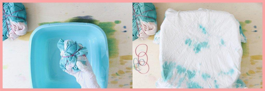 Batik färben mit frau friemel - Knüllmuster färben