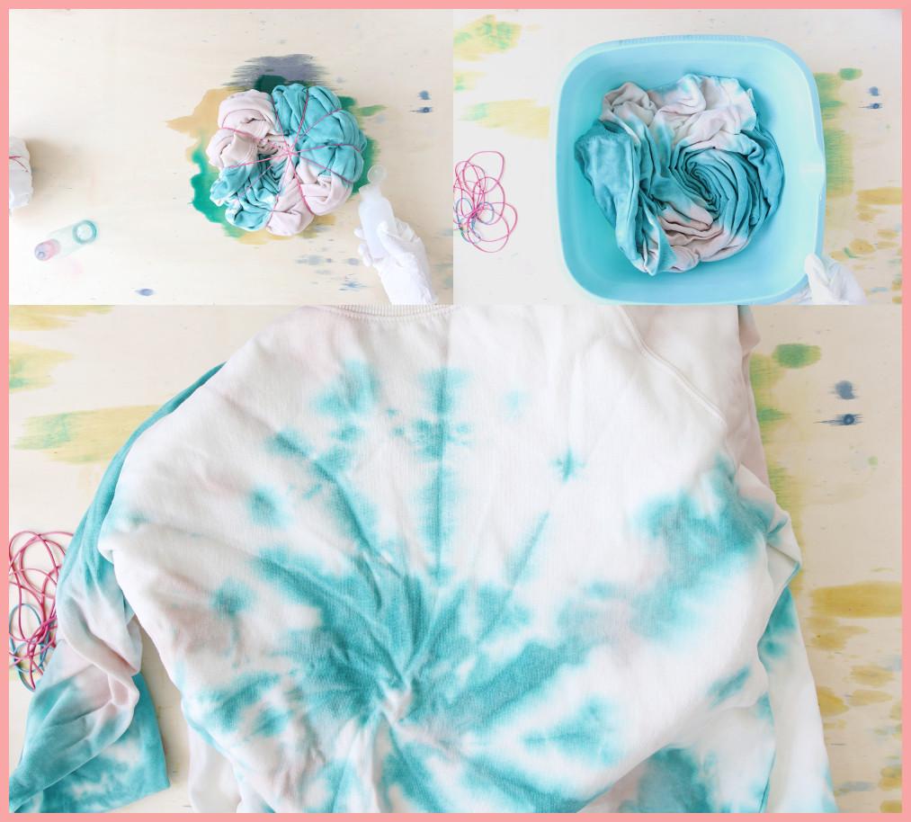 Batik färben mit frau friemel - Spirale färben