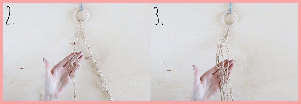 Hängeampel mit Korb gestalten - Schritt 2-3