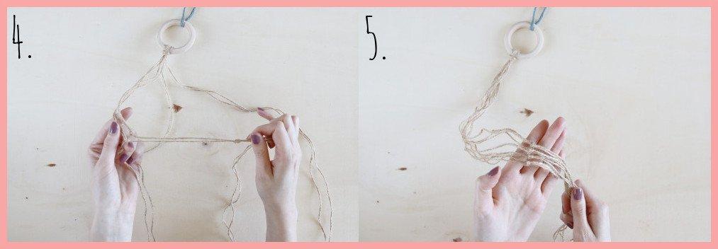 Hängeampel mit Korb gestalten - Schritt 4-5