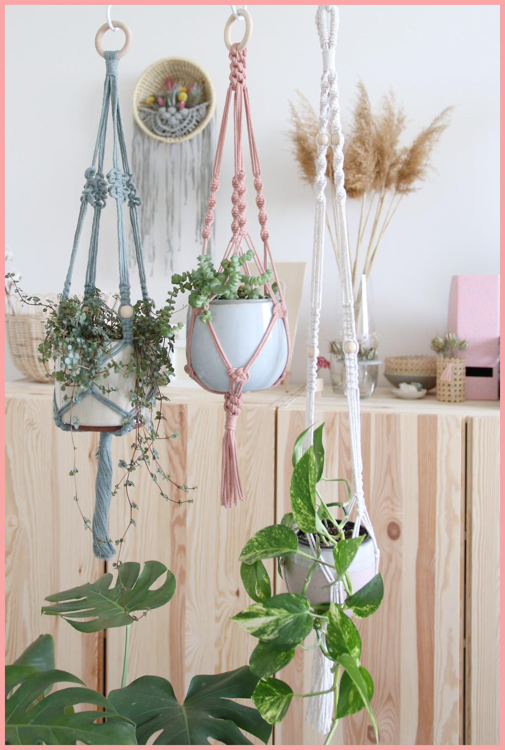 Makramee Blumenampel selber machen - verschiedene Varianten