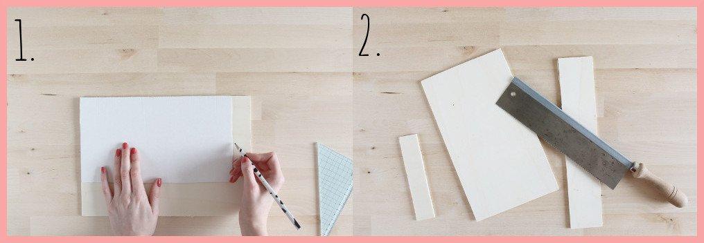 Wiener Geflecht Uhr selber machen - Schritt 1-2