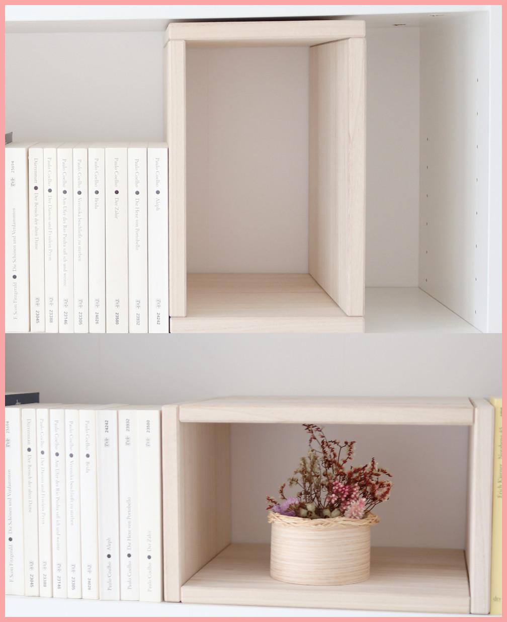 IKEA Hack Buchstützen aus Holz