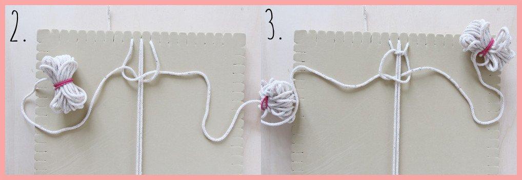 Makramee-Schlüsselband selbst gestalten - Schritt 2-3