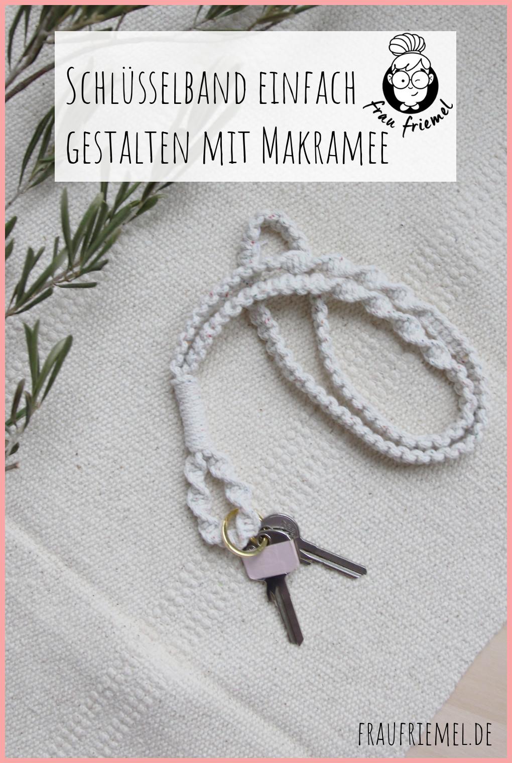 Makramee-Schlüsselband selbst gestalten auf Pinterest merken