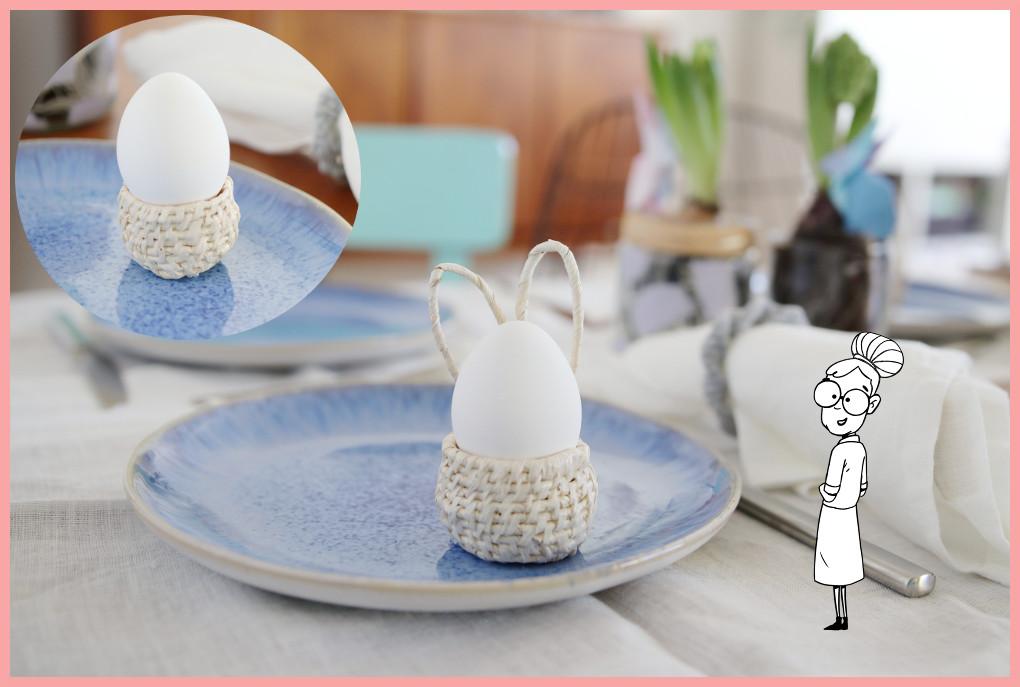Eierbecher basteln aus Naturmaterialien