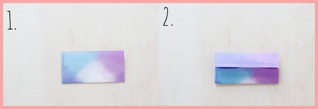 Origami Hase Anleitung - Schritt 1-2