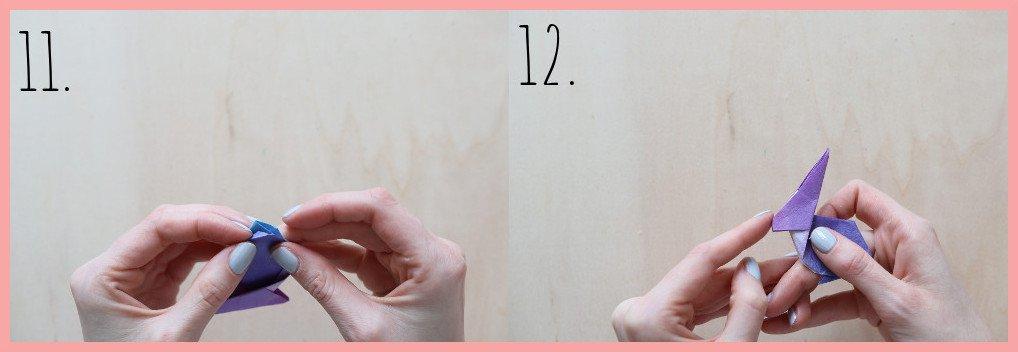 Origami Hase Anleitung - Schritt 11-12