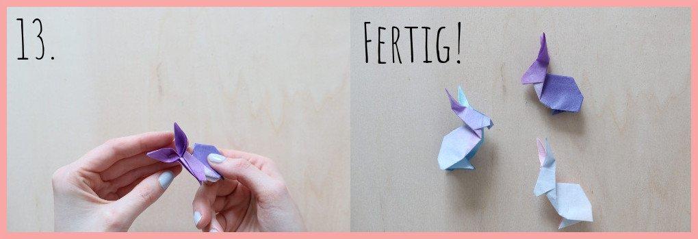 Origami Hase Anleitung - Schritt 13