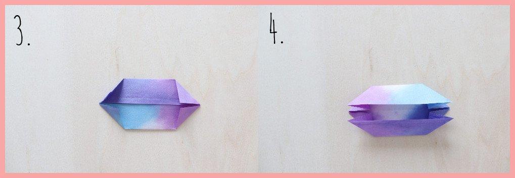 Origami Hase Anleitung - Schritt 3-4