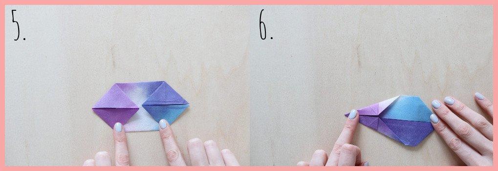 Origami Hase Anleitung - Schritt 5-6