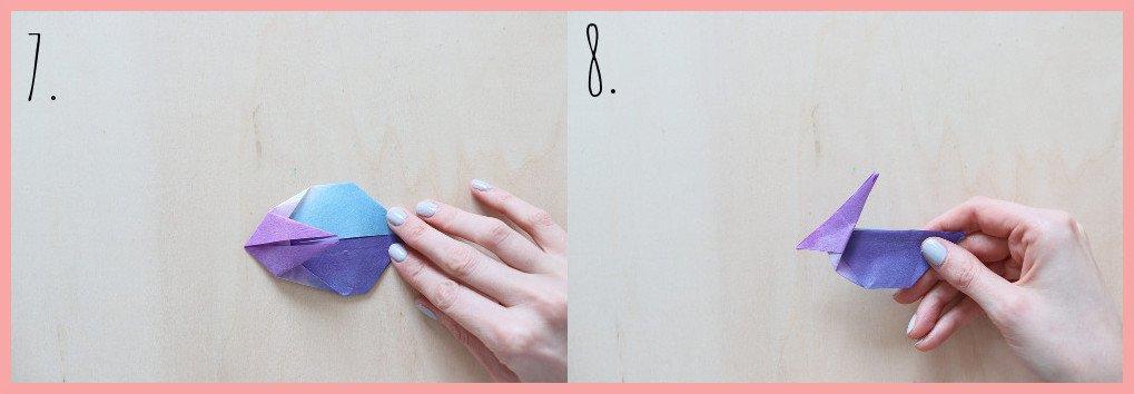 Origami Hase Anleitung - Schritt 7-8