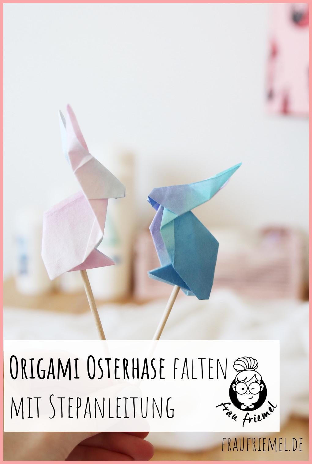Origami Hase Anleitung auf Pinterest merken