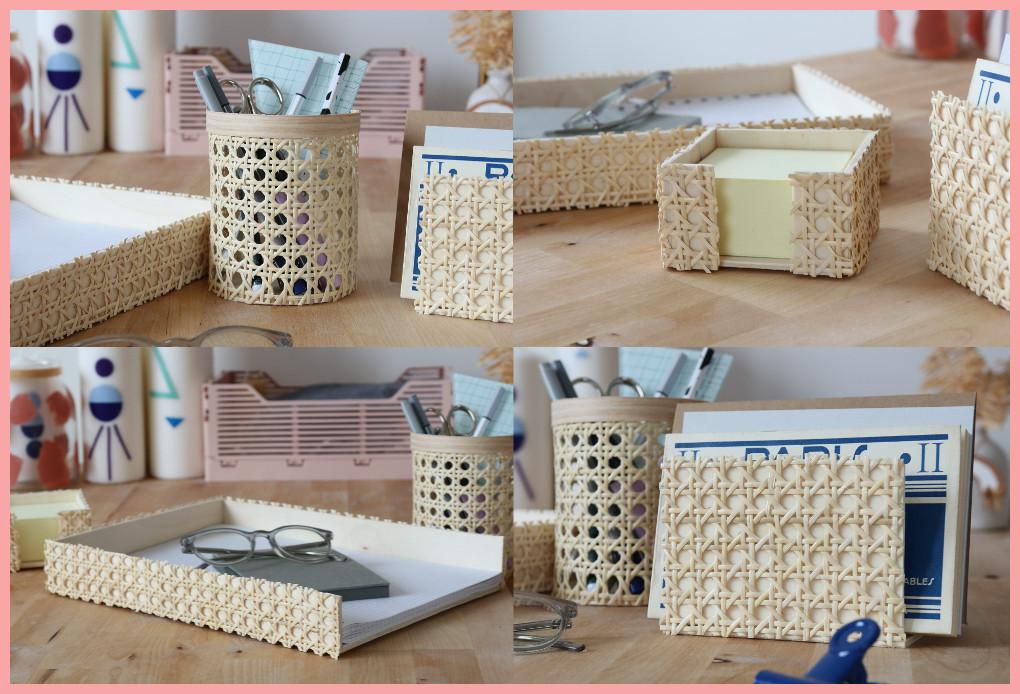 Schreibtischtisch DIYs mit Wiener Geflecht - Ergebnis