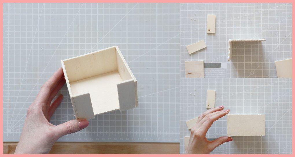 Schreibtischtisch DIYs mit Wiener Geflecht - Holz verleimen