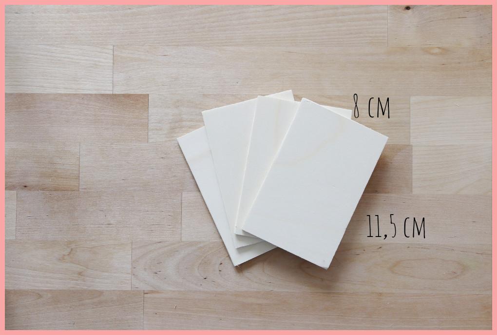 Schreibtischtisch DIYs mit Wiener Geflecht - Maße Briefablage