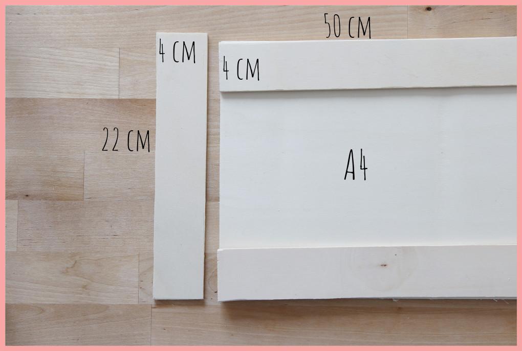 Schreibtischtisch DIYs mit Wiener Geflecht - Maße Schreibtischablage
